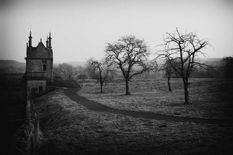 Frosty Morn in Monochrome Cotswold England